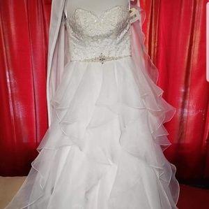 Davids Bridal Organza Ball Gown